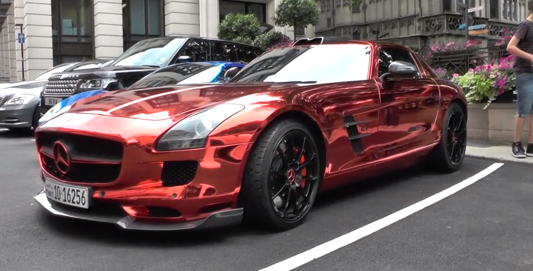 Red Chrome Mercedes Sls Spotted In London