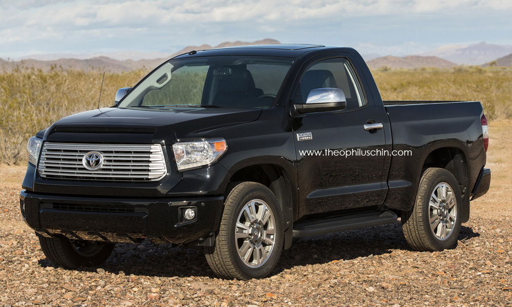 redesigned 2014 toyota tundra pickup regular cab rendering autoevolution. Black Bedroom Furniture Sets. Home Design Ideas