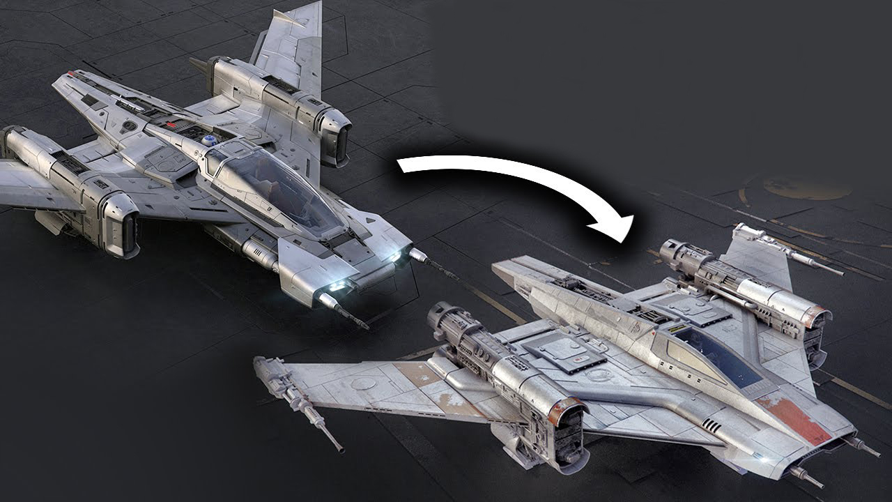 Redesigned Porsche Star Wars Ship Is More Starfighter, Less
