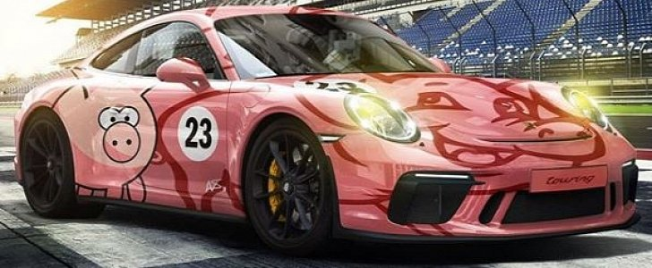 Remastered Pink Pig Porsche 911 Gt3 Touring Rendered As Le