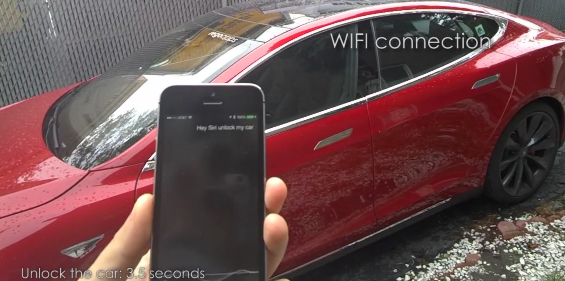 remote s iphone app uses siri to unlock open the sunroof of your tesla model s autoevolution. Black Bedroom Furniture Sets. Home Design Ideas