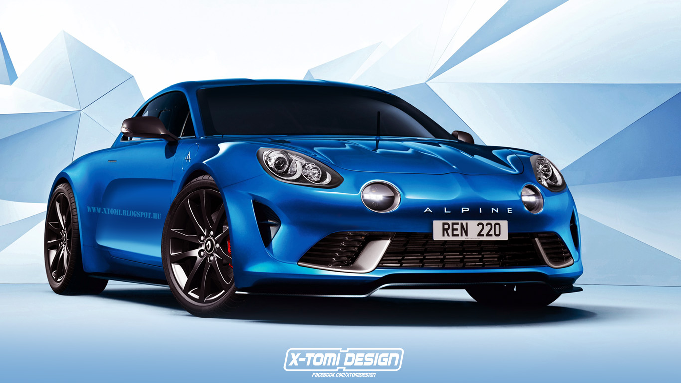 Renault alpine celebration concept rendered in production clothing twice autoevolution