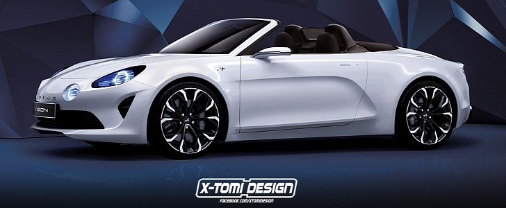 renault alpine vision cabriolet could be sexier than the coupe autoevolution. Black Bedroom Furniture Sets. Home Design Ideas