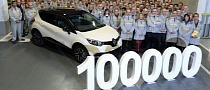 Renault Captur Production Reaches 100,000