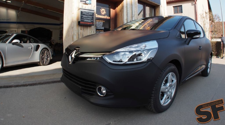 Renault Clio In Matte Black The French Batmobile