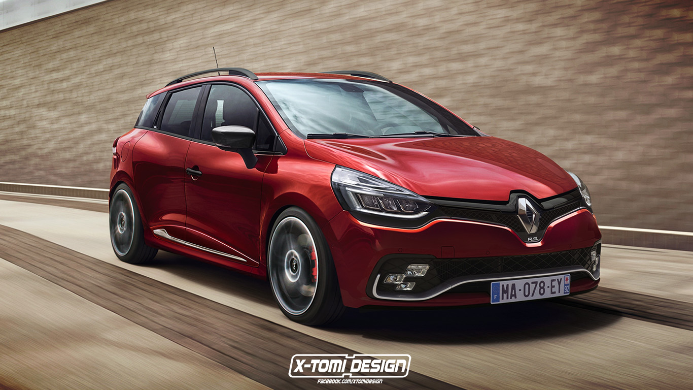 renault clio rs grandtour wagon needs to happen the latest rendering proves autoevolution. Black Bedroom Furniture Sets. Home Design Ideas