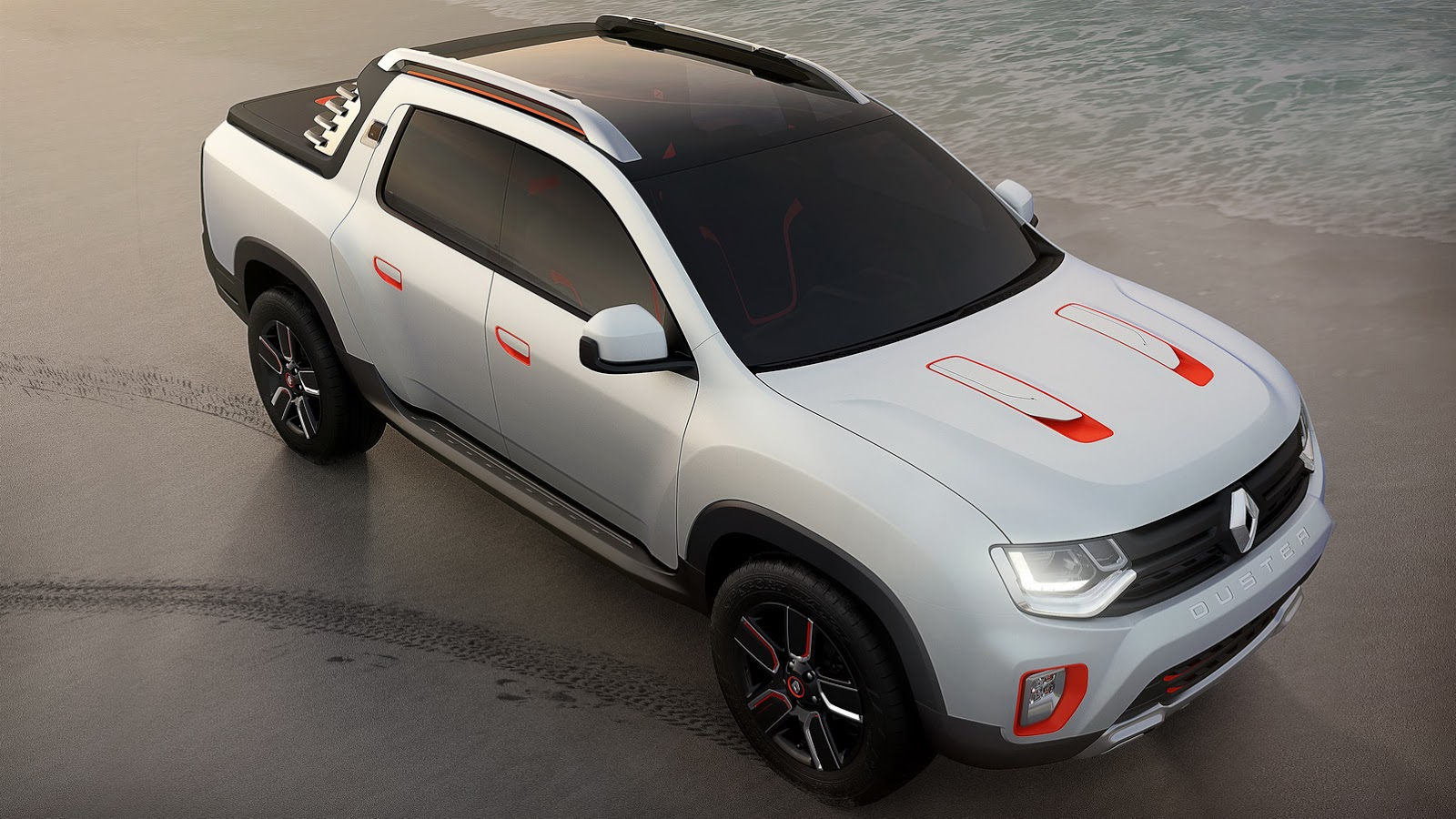 renault duster oroch concept is a 4 door pickup video autoevolution. Black Bedroom Furniture Sets. Home Design Ideas