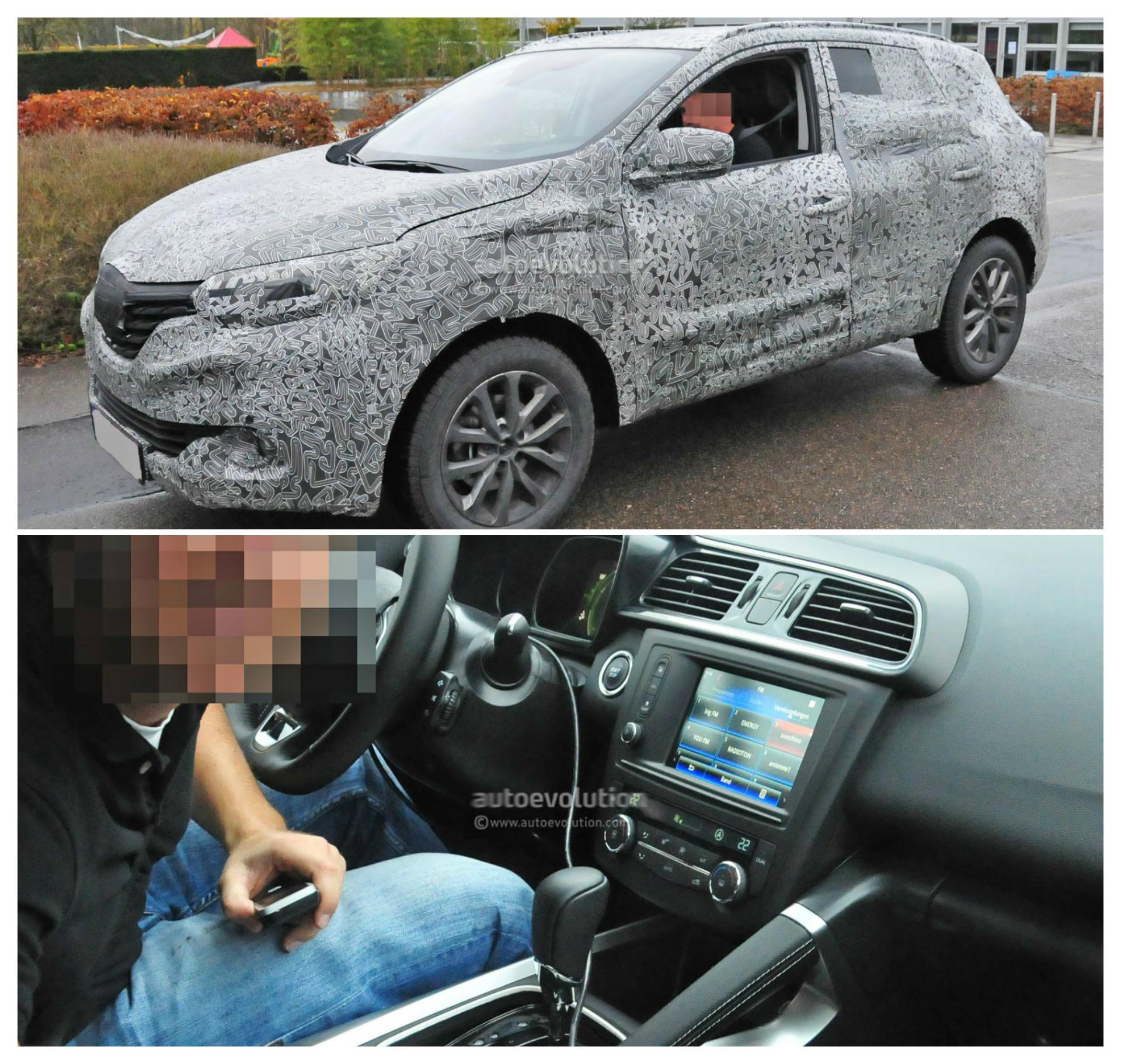 2015 Renault Koleos Crossover Spyshots Reveal Interior