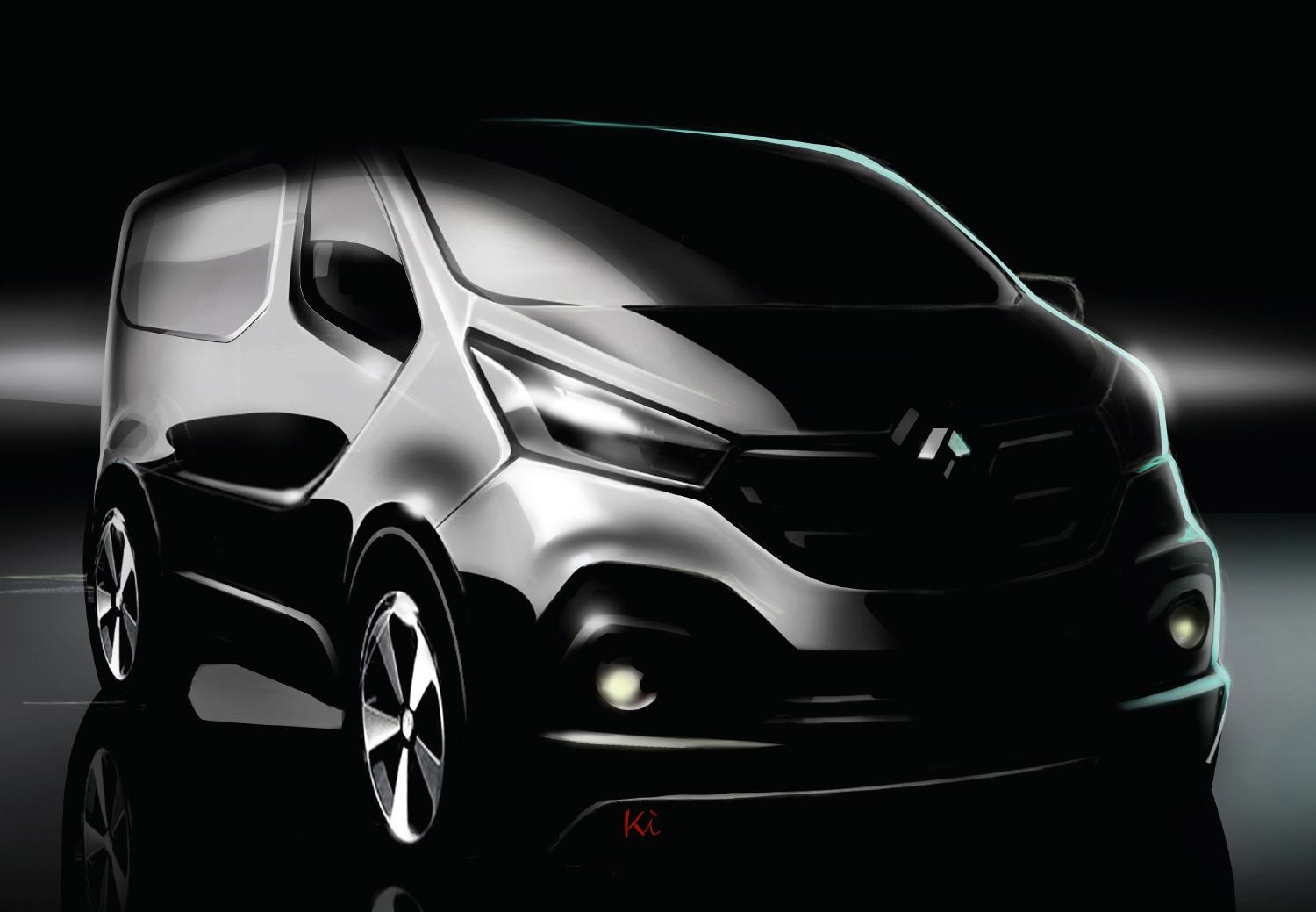 Renault Releases Sketch Of New Trafic Van For 2017