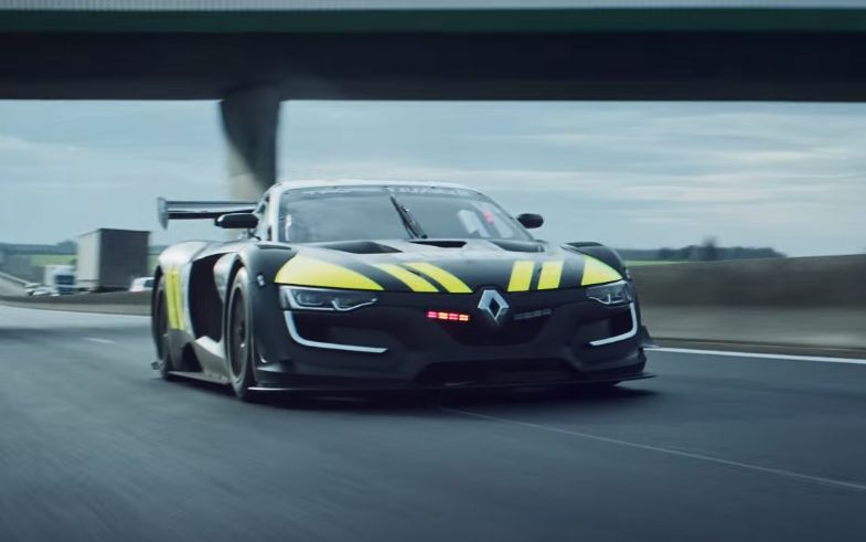 Renault Sport RS Police Car Chases Biker We Dream Of Street - Sports cars vs police