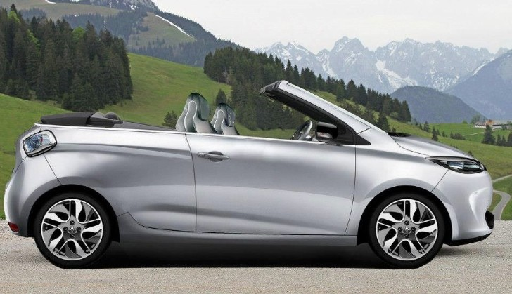 Renault ZOE EV Convertible Rendered