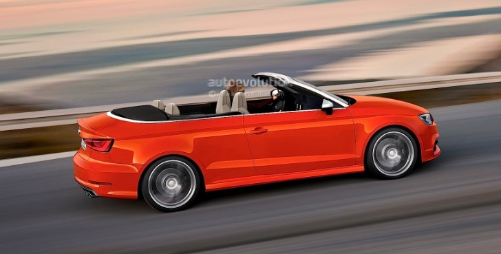 Rendering: 2014 Audi S3 Cabriolet Will Have 300 HP