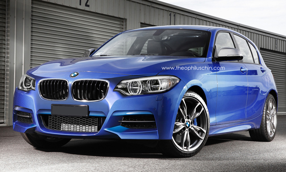 rendering 2015 bmw 1 series facelift autoevolution. Black Bedroom Furniture Sets. Home Design Ideas