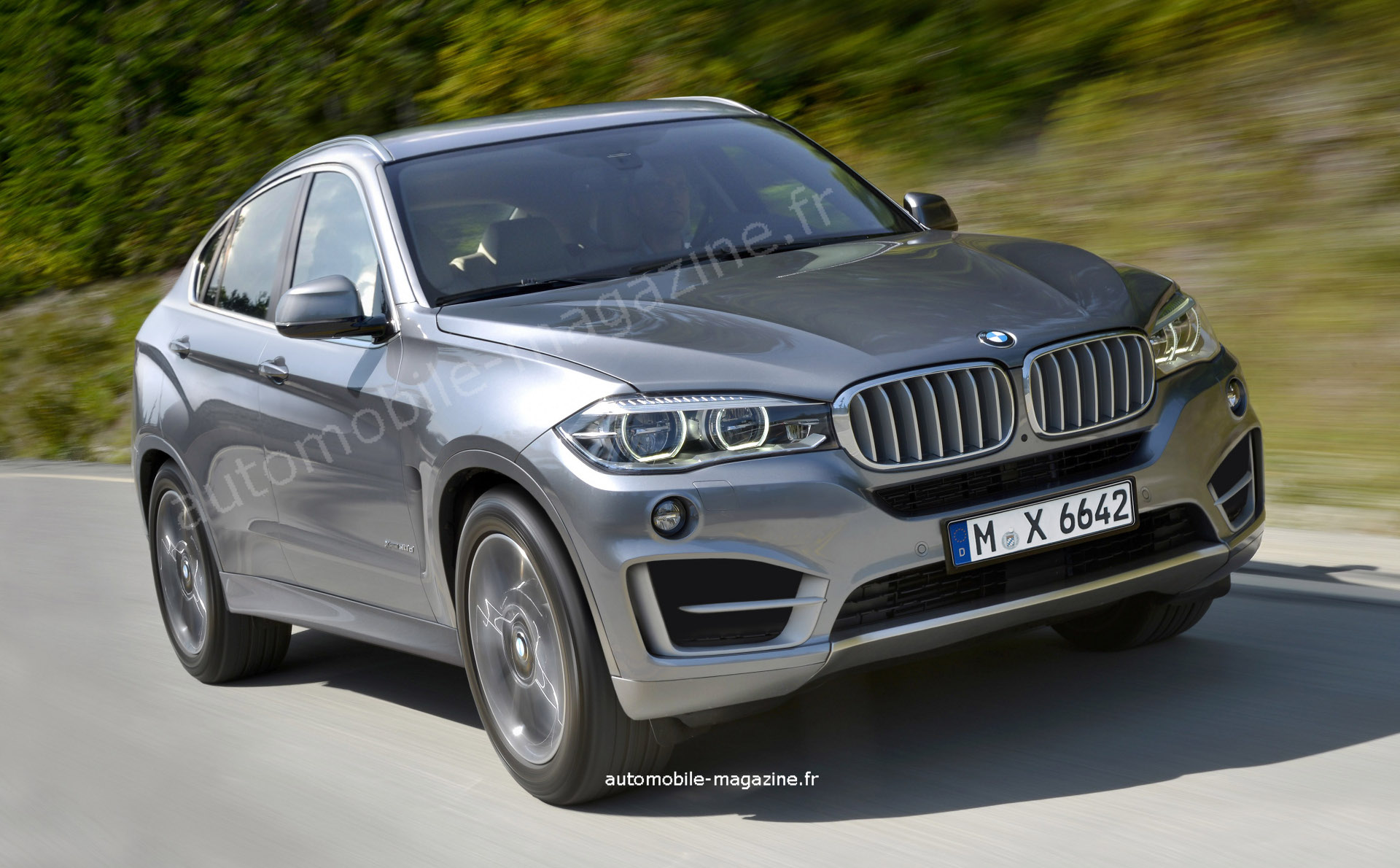 rendering 2015 bmw f16 x6 autoevolution. Black Bedroom Furniture Sets. Home Design Ideas
