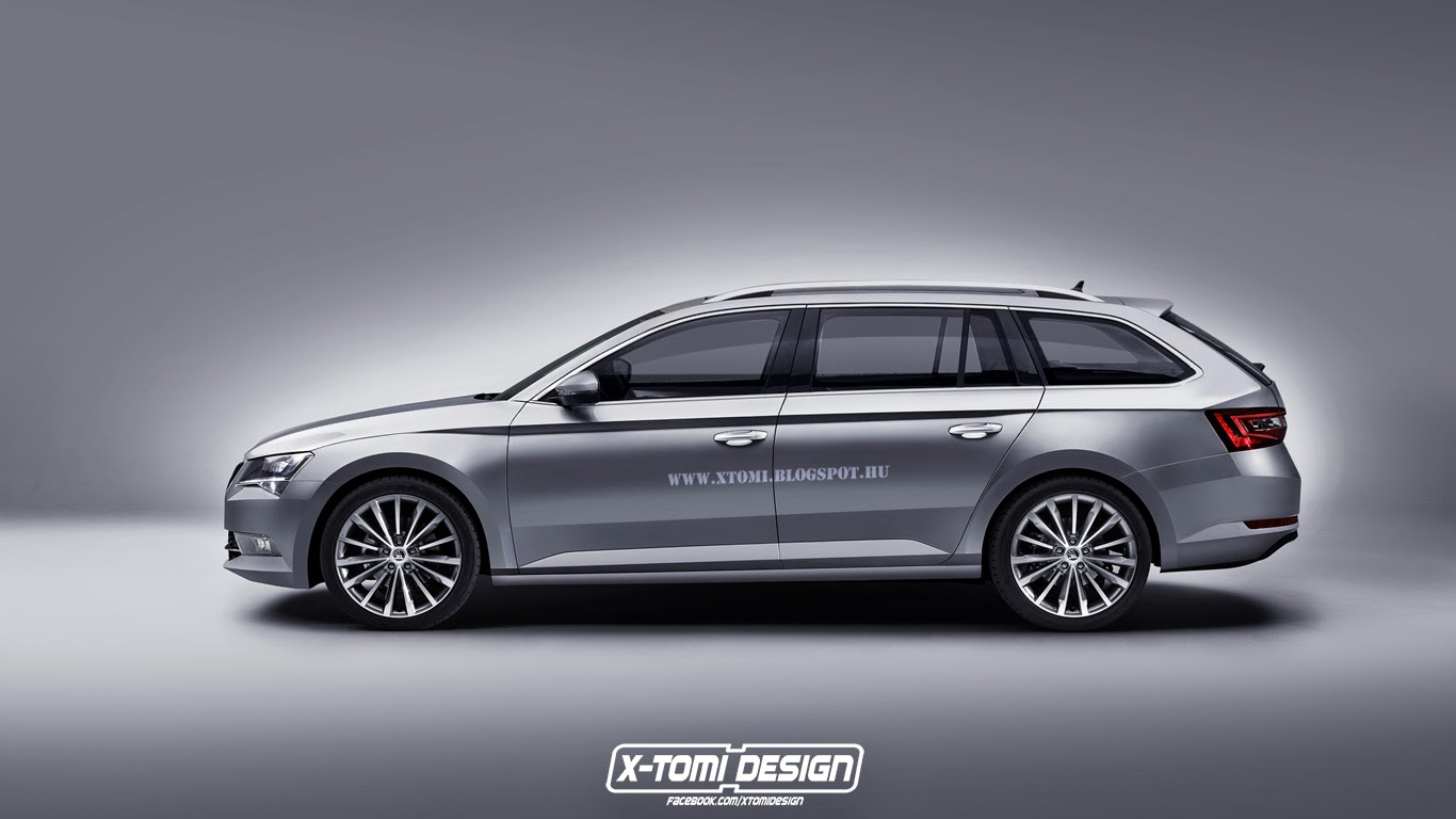 rendering 2016 skoda superb combi autoevolution. Black Bedroom Furniture Sets. Home Design Ideas