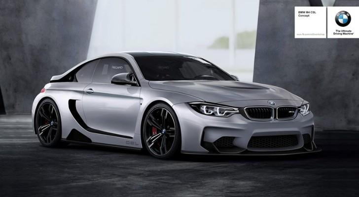 Rendering: BMW M4 CSL Vision Concept