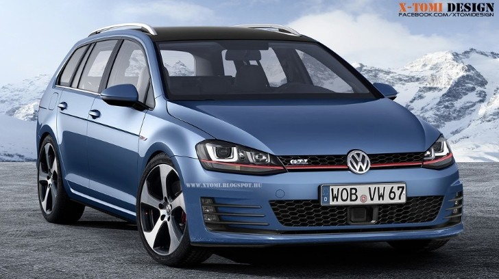 rendering vw golf vii gti variant is one sexy wagon autoevolution. Black Bedroom Furniture Sets. Home Design Ideas