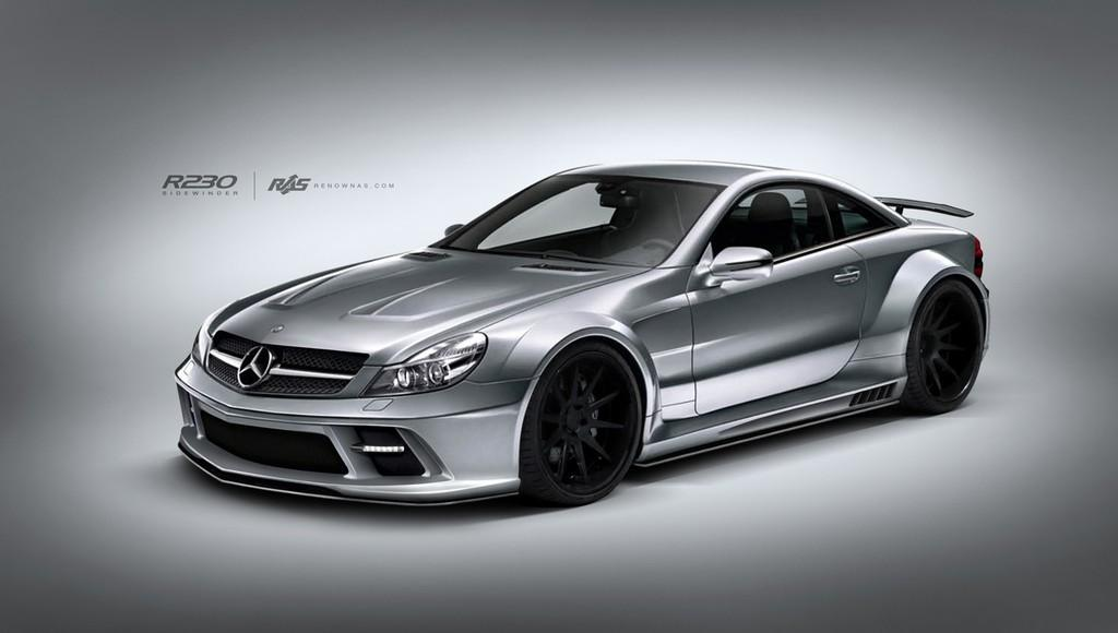 Renown sidewinder wide body kit for mercedes benz sl for Mercedes benz auto body