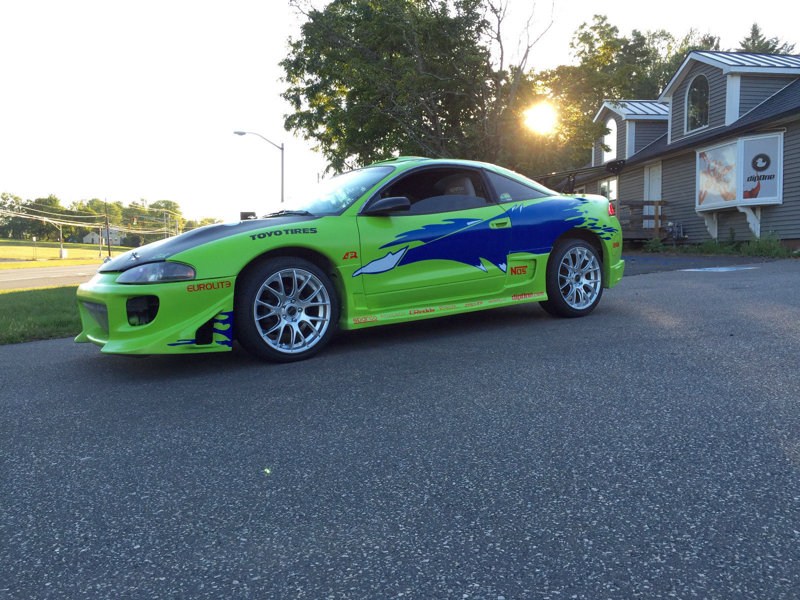 replica of the mitsubishi eclipse paul walker drove in the fast and the furious is on sale. Black Bedroom Furniture Sets. Home Design Ideas