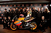 Marc Marquez and the Repsol team