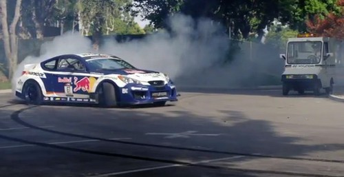 Rhys Millen Hooning in 'Stolen' Genesis Drift Car [Video]