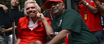 Richard Branson Crossdresser: Becomes Female Flight Attendard After Losing F1 Bet
