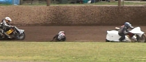 Rider Run Over during Sidecar Race, Miraculously Unscathed [Video]