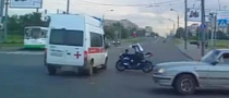 Rider Smashes Hard into Ambulance [Video]