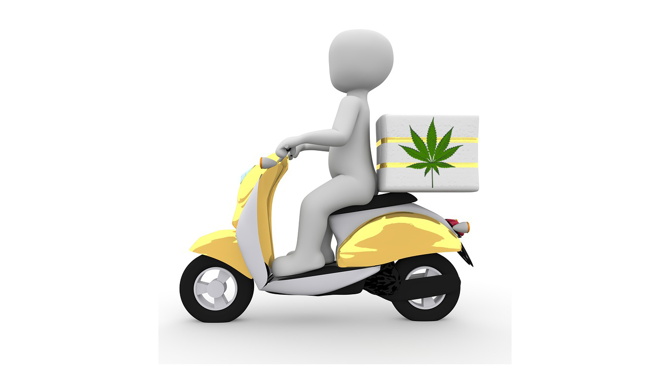 riding a motorcycle to deliver marijuana sounds like a cool job if