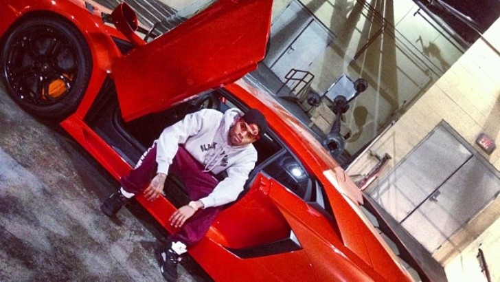 Rihanna Rides in Chris Brown's Lamborghini Aventador [Video]