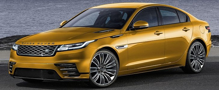 Road Rover Velar Rendering Shows There's Potential for a Range Rover Sedan