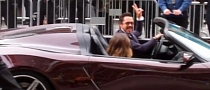 Robert Downey Jr at Avengers Premiere in Acura NSX Roadster [Video]