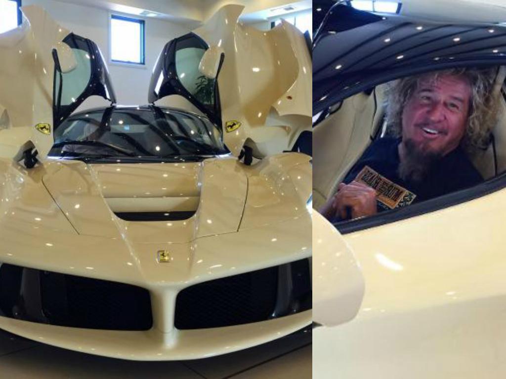 Rock Legend Sammy Hagar Takes Delivery Of His Ferrari Laferrari Calls It Cappuccino Autoevolution