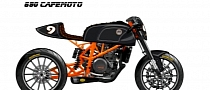 Roland Sands KTM 690 CafeMoto in Progress [Photo Gallery]