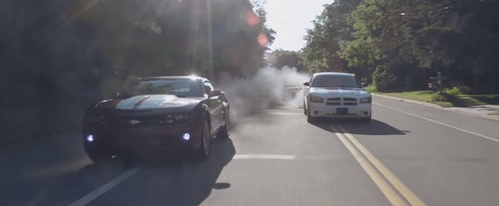 Rolling Coal In The Duramax Camaro And Cummins Charger