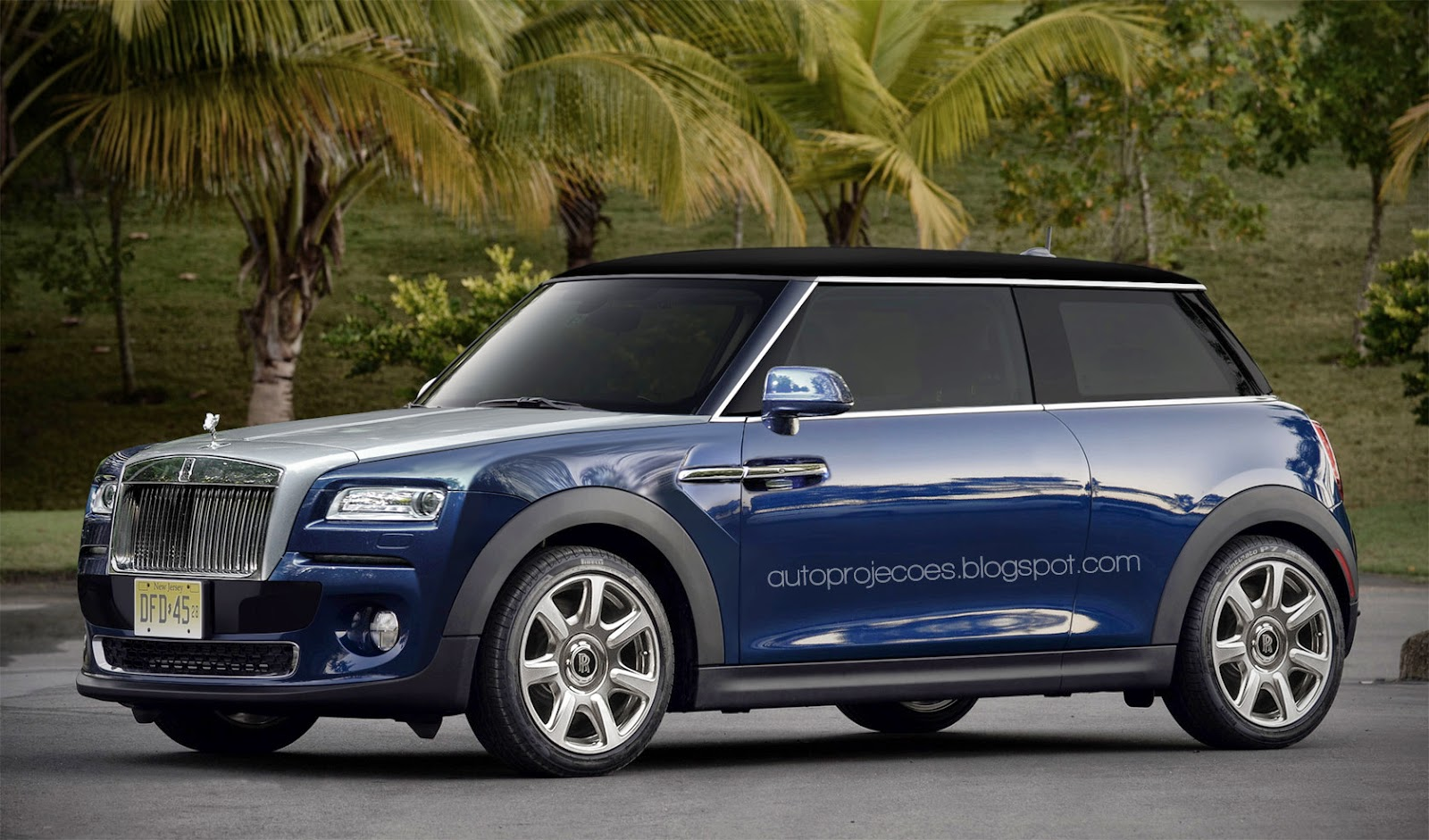Rolls Royce Mini Rendered High End Luxury Compact