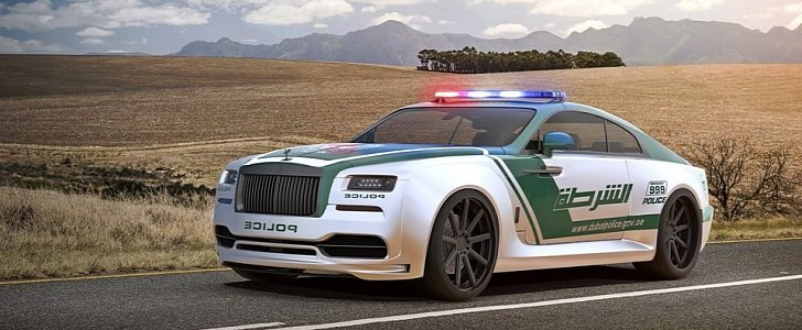 Rolls-Royce Wraith Dubai Police Car Rendered for the ...