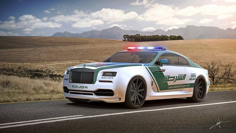 Rolls Royce Wraith Dubai Police Car Rendered For The