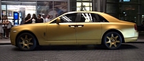 Rolls Royce Wrapped in Matte Gold [Video]
