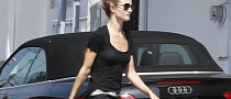 Rosie Huntington-Whiteley Drives an Audi S5 Cabrio