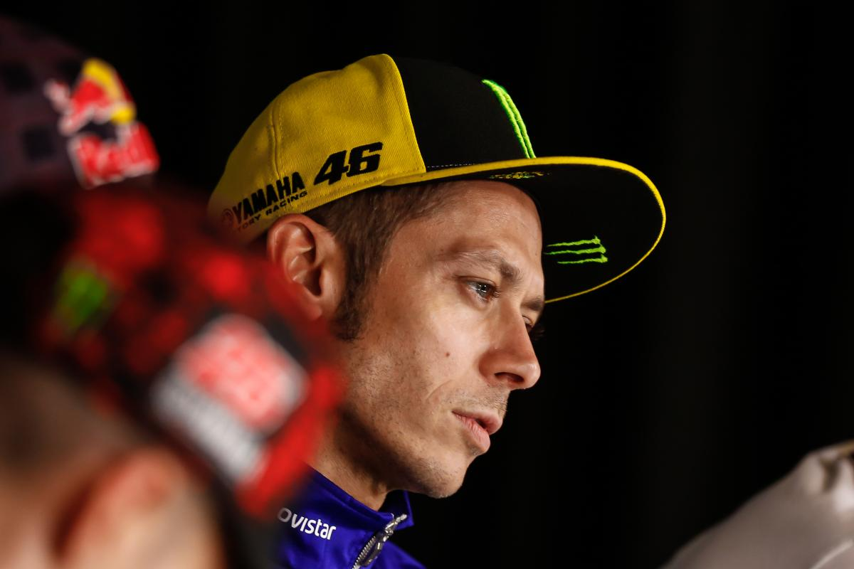 Rossi Completes First Laps Since Injury in Misano