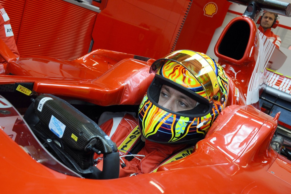 Rossi To Test a Ferrari F2008 in Barcelona - autoevolution