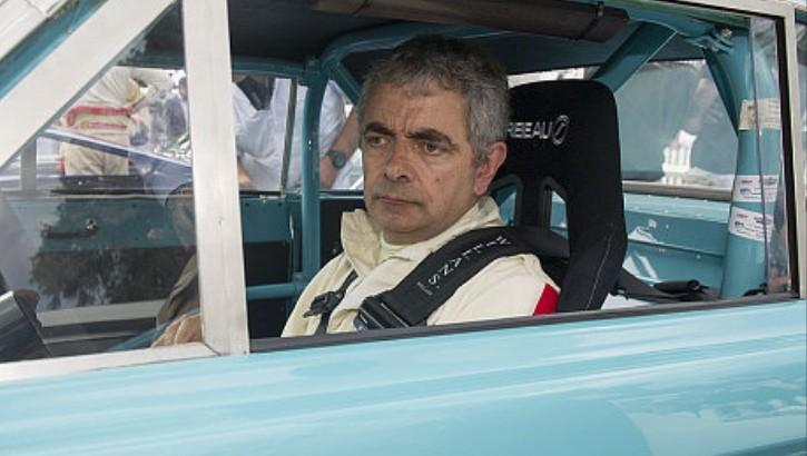 Rowan Atkinson Crashes His Car at Goodwood Revival