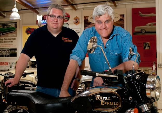 Image result for jay leno royal enfield
