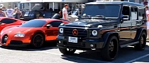 RRR Bugatti Veyron and Lorinser Mercedes G55 AMG[Video]