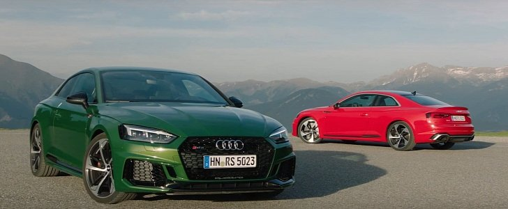 Rs5 In Misano Red And Sonoma Green Get Extra Footage As Audi Announces Pricing Autoevolution