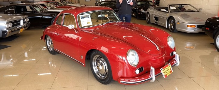 photo of Ruby Red 1957 Porsche 356 Coupe Replica Looks Absolutely Fabulous image