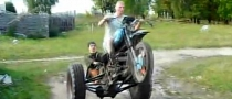 Russian DIY IZH Trike Is THE Wheelie Machine [Video]
