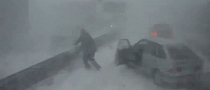 Russian Driver Discovers Dangers of Snowstorm Driving the Hard Way [Video]