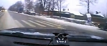 Russian Driver Does Amazing Save on Slippery Road [Video]